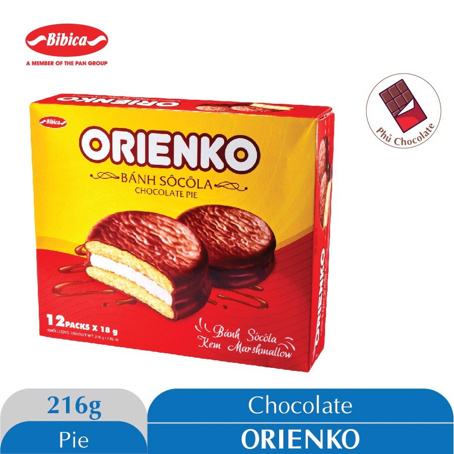 Bánh Chocolate Orienko 216g