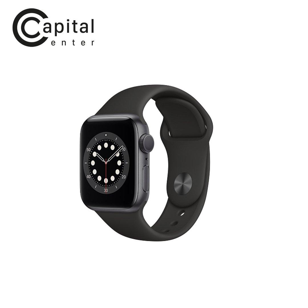 Apple Watch Series 6 GPS + CELLULAR 40mm Viền nhôm / Dây cao su - Viền Đen / Dây Đen (M06P3VN/A)