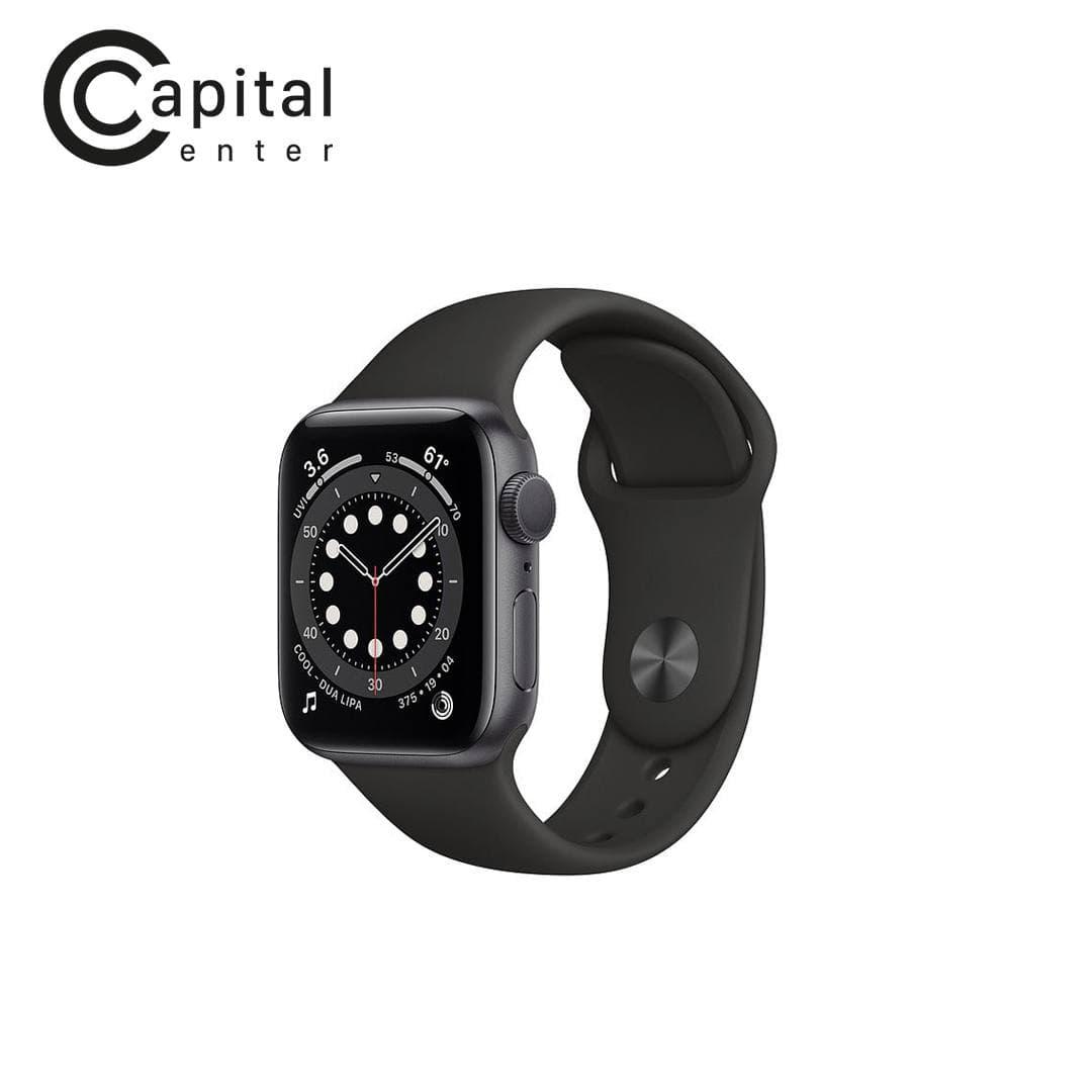 Apple Watch Series 6 GPS+ Cellular 44mm Viền nhôm / Dây cao su (VN/A) -Viền Đen / Dây Đen (MG2E3VN/A)