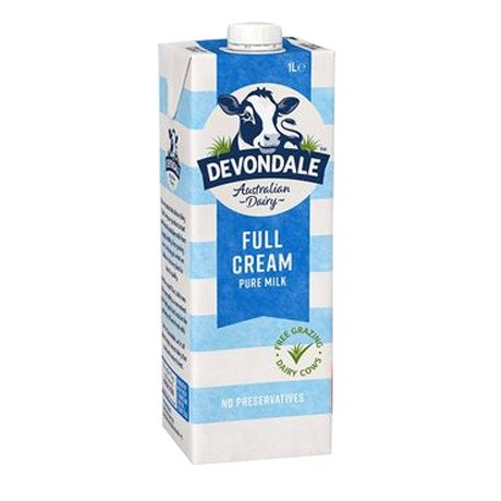 Devondale full cream 1 lit - Date: 10/2021 - 10 hộp.