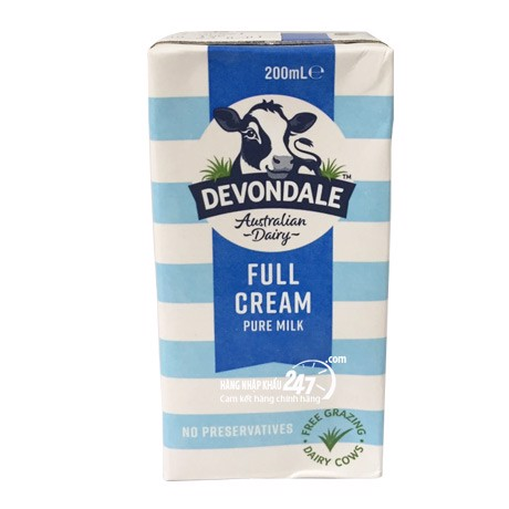 Devondale full cream 200ml - Date: 7/2021 - 24 hộp