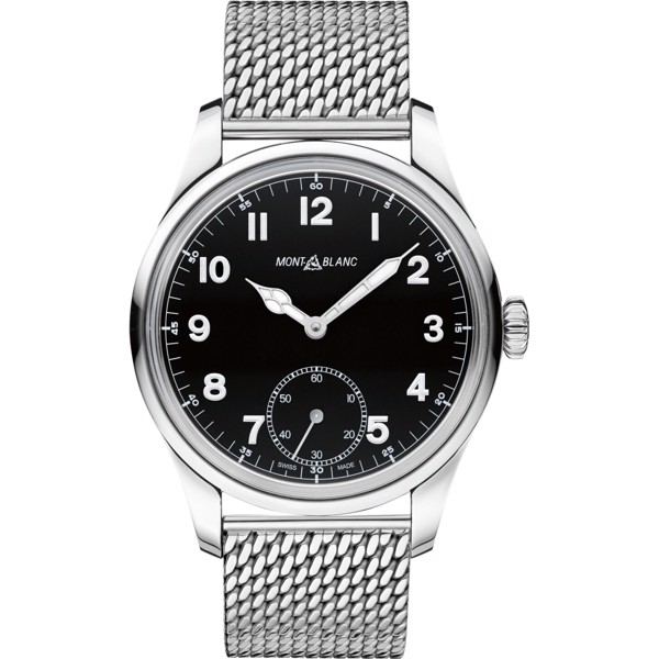 Montblanc 1858 112639 Manual Small Second Stainless Steel 47mm