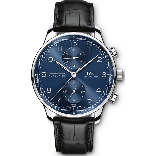 IWC  Portugieser IW371491 Chronograph Blue Watch 40.9mm