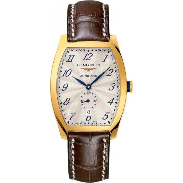 Longines Evidenza Automatic 18k Gold Mens Watch 39mm x 33mm