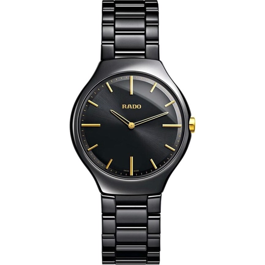 True Black Ceramic Dial Women's Watch 30mm