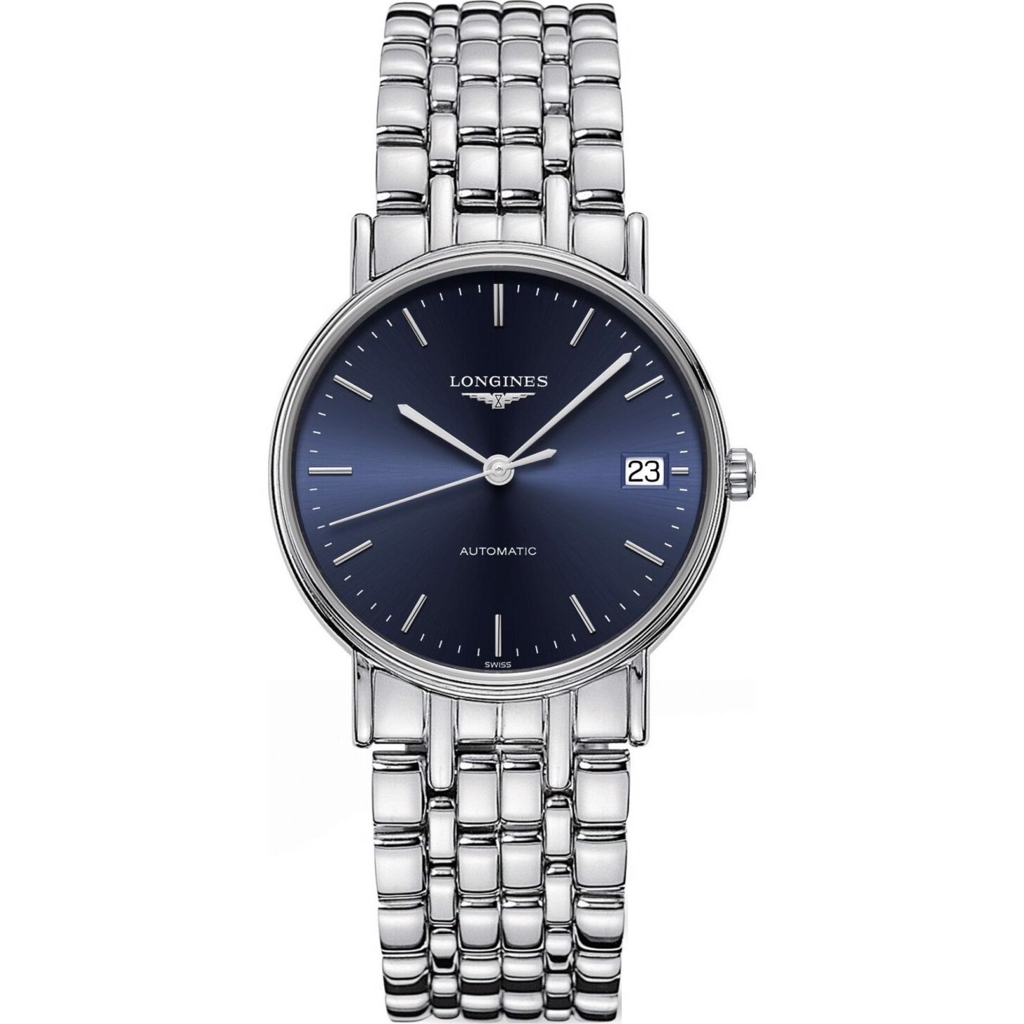 Longines Presence L4.821.4.92.6 Automatic Blue Dial Watch 34.5mm