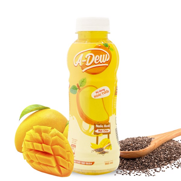 360ml A-Dew Mango Juice Drink With Chia Seeds