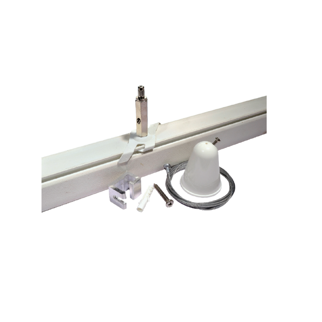 Giá treo trần, bộ dụng cụ treo EZCLIK với dây - Ceiling mount, EZCLIK supension kit with wire - Ray Tracklight - Pro-EZ0448