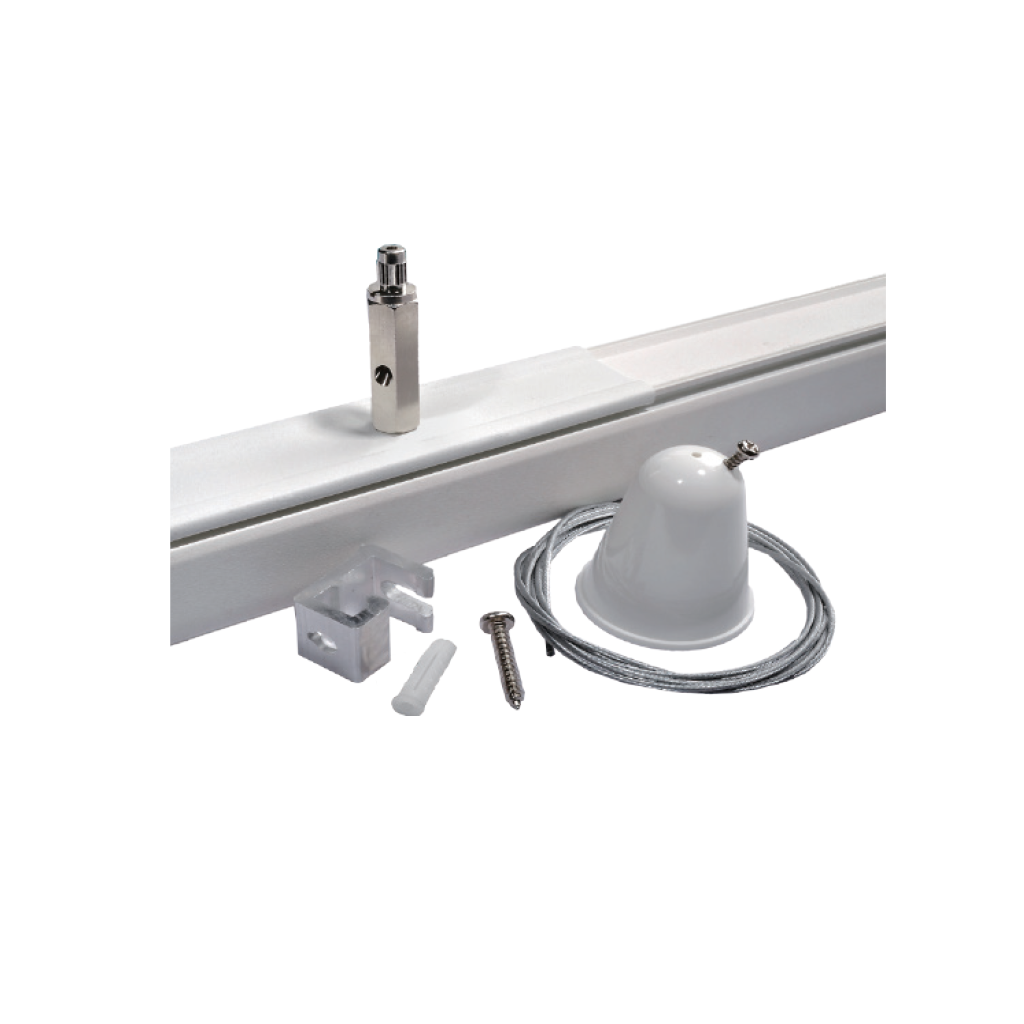 Giá treo trần, tấm gia cố với dây treo - Ceiling mount, Reinforcement Plate with supension wire - Ray Tracklight - Pro-M147