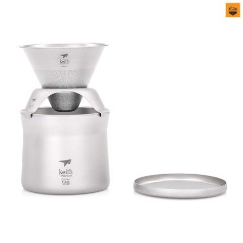 KEITH TITANIUM MINI COFFEE AND TEA MAKER