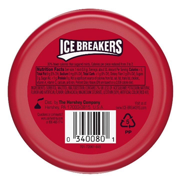 Kẹo Ice Breakers Mints Sugar Free Cinamon 42g