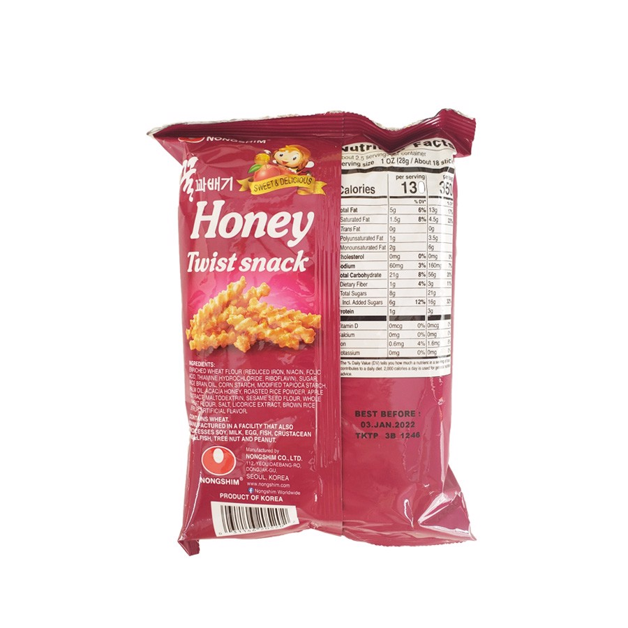 Bánh Snack Honey Twist Snack Nong Shim 75g