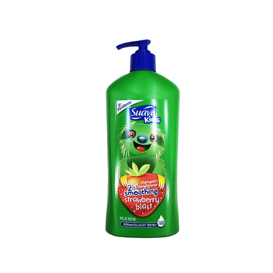 Tắm Gội Suave Kids 2 in 1 Strawberry Blast 532ml