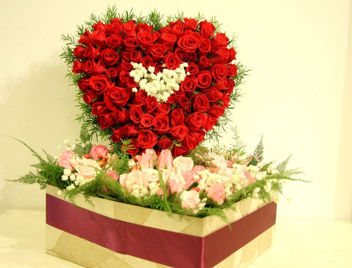 Hoa hồng đỏ là hiện thân của mối tình nồng cháy, lãng mạn từ lâu là loài hoa gắn liền với ngày Valentine trên toàn thế giới