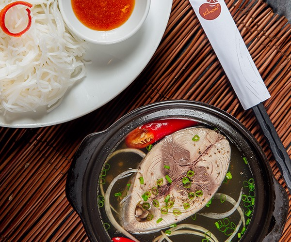 Bún Cá Ngừ - Stewed Tuna served with fresh noodle