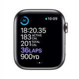 Apple Watch Series 6 GPS + Cellular 44mm Stainless Steel, Sport Band