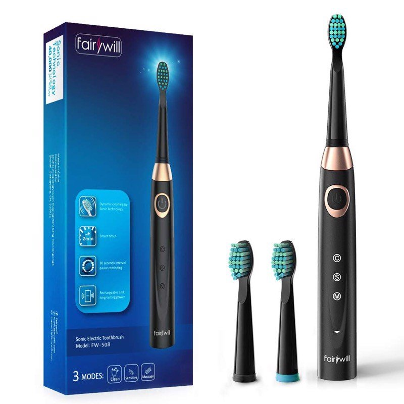 Fairywill Sonic Electric Toothbrush - Black