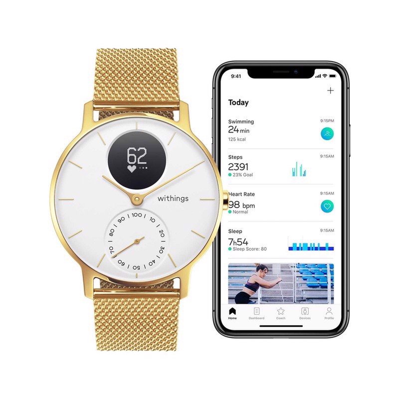 Withings Steel HR Valentine - Brass Gold