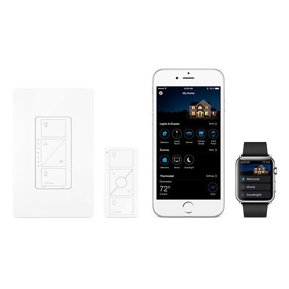 Apple Lutron Caséta Wireless In-Wall Light Dimmer with Remote