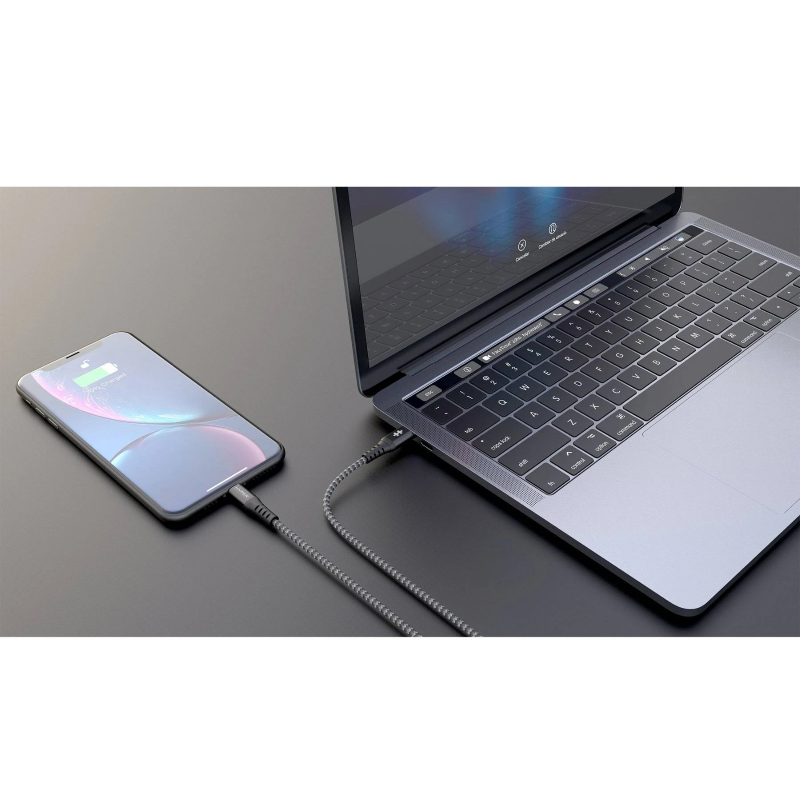 HyperDrive Tough USB-C to Lightning Cable (6ft / 2m)