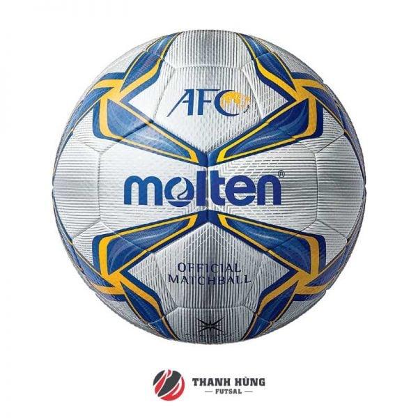 BÓNG ĐÁ MOLTEN F5V5003-A (AFC CUP) SỐ 5 – TRẮNG/ XANH/ VÀNG