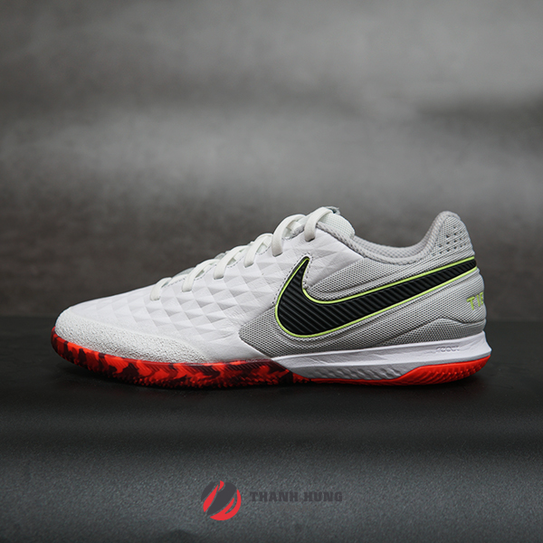 NIKE REACT TIEMPO LEGEND 8 PRO IC - AT6134-106 - TRẮNG / ĐỎ