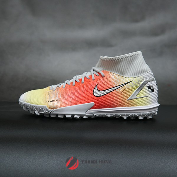 NIKE MERCURIAL SUPERFLY 8 ACADEMY MDS TF - CV0952-118 - TRẮNG / CAM