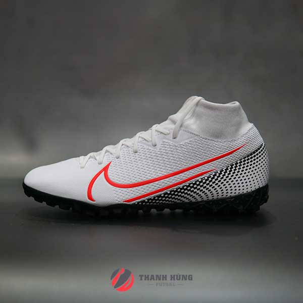 NIKE MERCURIAL SUPERFLY 7 ACADEMY TF – AT7978-160 – TRẮNG / ĐỎ