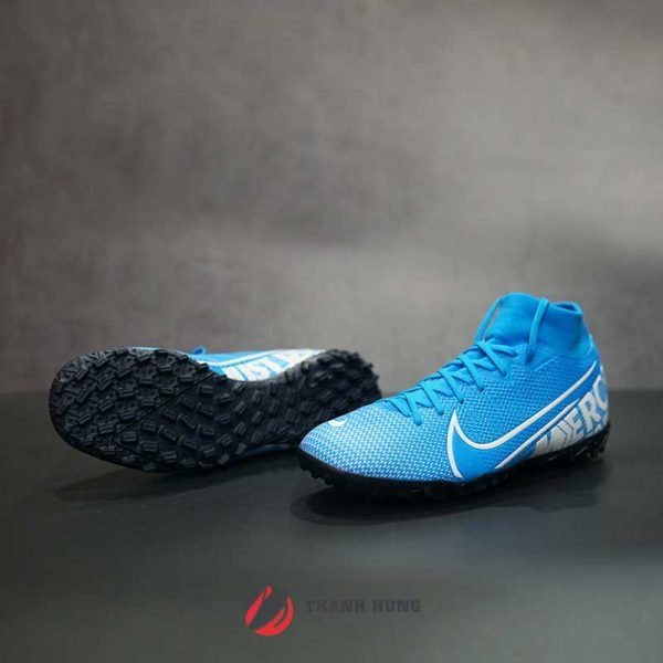 NIKE MERCURIAL SUPERFLY 7 ACADEMY TF – AT7978-414 – XANH/ TRẮNG
