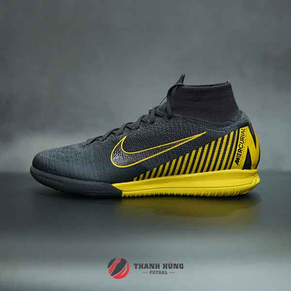 NIKE MERCURIAL SUPERFLY VI ELITE IC – AH7373-070 – XÁM/VÀNG