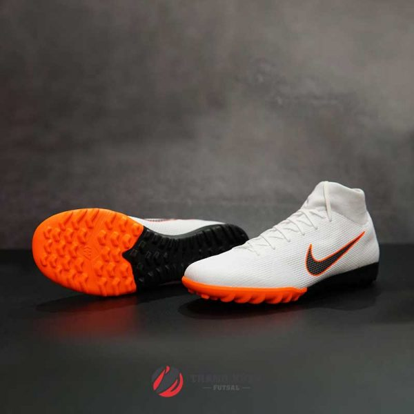 NIKE MERCURIALX SUPERFLYX 6 ACADEMY TF – AH7370-107 – TRẮNG/ CAM