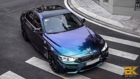 BMW 328I - 02 WRAP BLUE