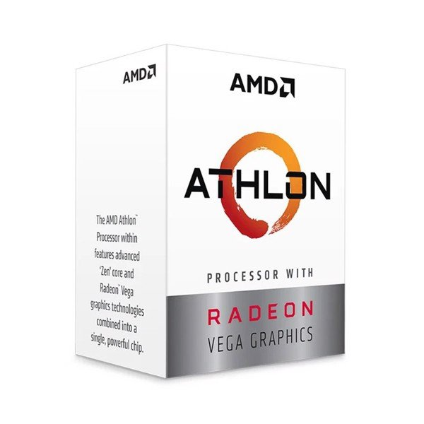 CPU AMD Athlon 200GE (3.2GHz, 2 nhân 4 luồng, 4MB Cache, Radeon Vega 3, 35W) - Socket AMD AM4