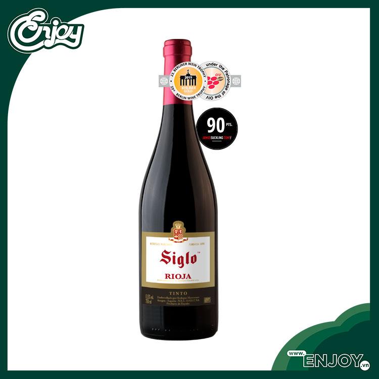 Rượu vang Tây Ban Nha Siglo Tinto  D.O.Ca Rioja - 750 ml