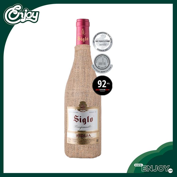 Rượu vang Tây Ban Nha Siglo Saco Tempranillo D.O.Ca Rioja - 13,5% -750ml