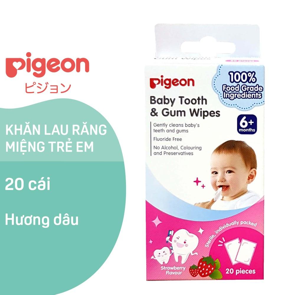 Khăn lau răng miệng trẻ em Pigeon - Hương Dâu