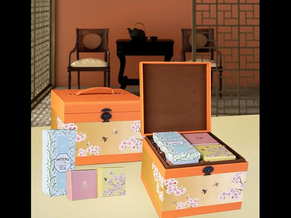 Bánh trung thu Maison hộp lôi cuốn 6 bánh và 1 hộp trà cao cấp