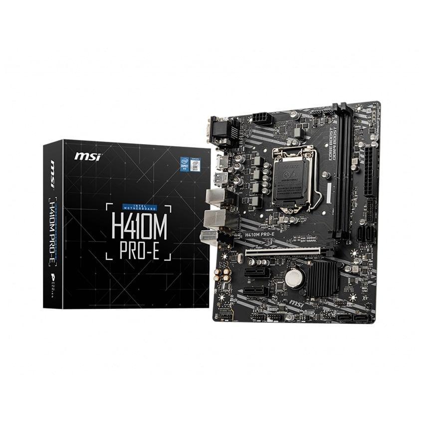 Mainboard MSI H410M PRO-E (Intel H410, Socket 1200, m-ATX, 2 khe Ram DDR4)