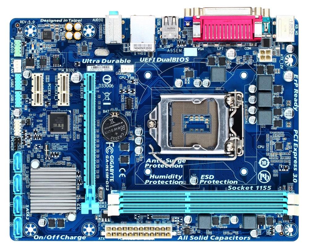 Mainboard K.GYGA  H61 SK 1155 - DDR3 Có cổng HDMI  + Vga + LPT1 + COM